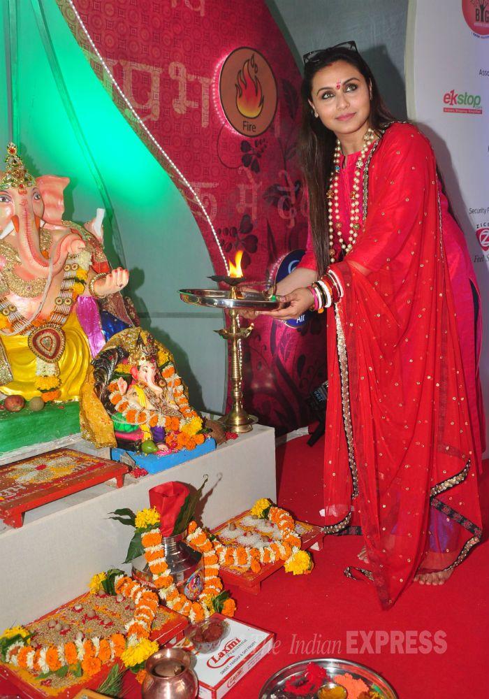 Rani Mukerji celebrates Ganpati | Rani mukerji, Celebrities, Bollywood  actress