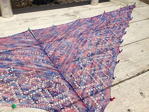 Basic Shawl Pattern Pattern By Gittaar Designs Machine Knitting