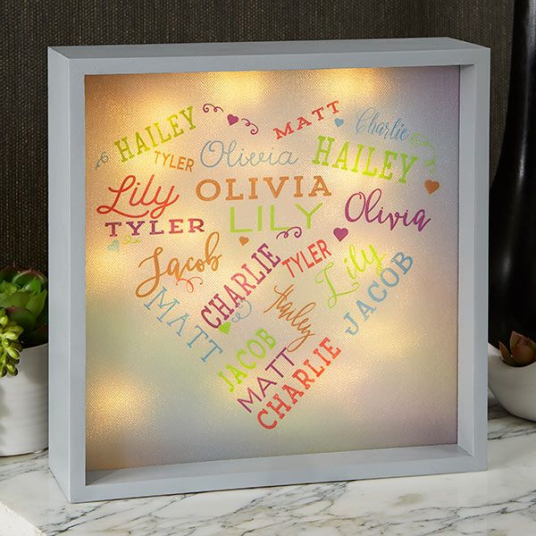 Close To Her Heart 10x10 Custom Led Light Shadow Box Shadow Box Diy Shadow Box Christmas Shadow Boxes