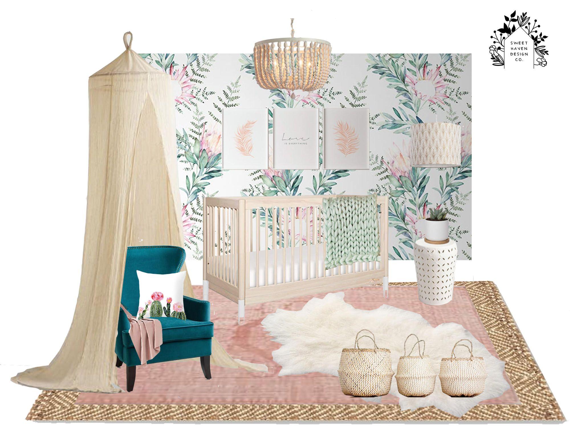 Sweet Natural Baby Girl Nursery Modern Baby Room Baby Room Diy Nursery Design