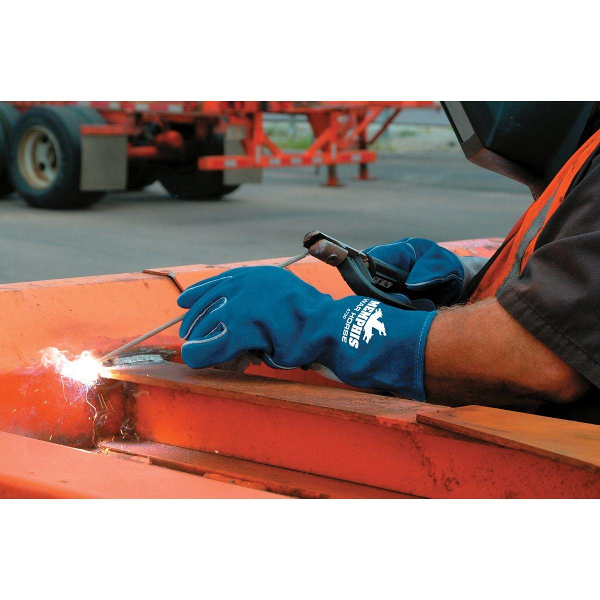 MCR Safety 4730 War Horse Side Leather Welders Gloves
