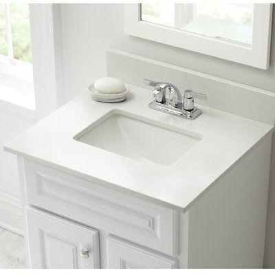 Halstead International Engineered Marble 25 Single Bathroom Vanity Top Bathroom Vanity Tops Single Bathroom Vanity Vanity