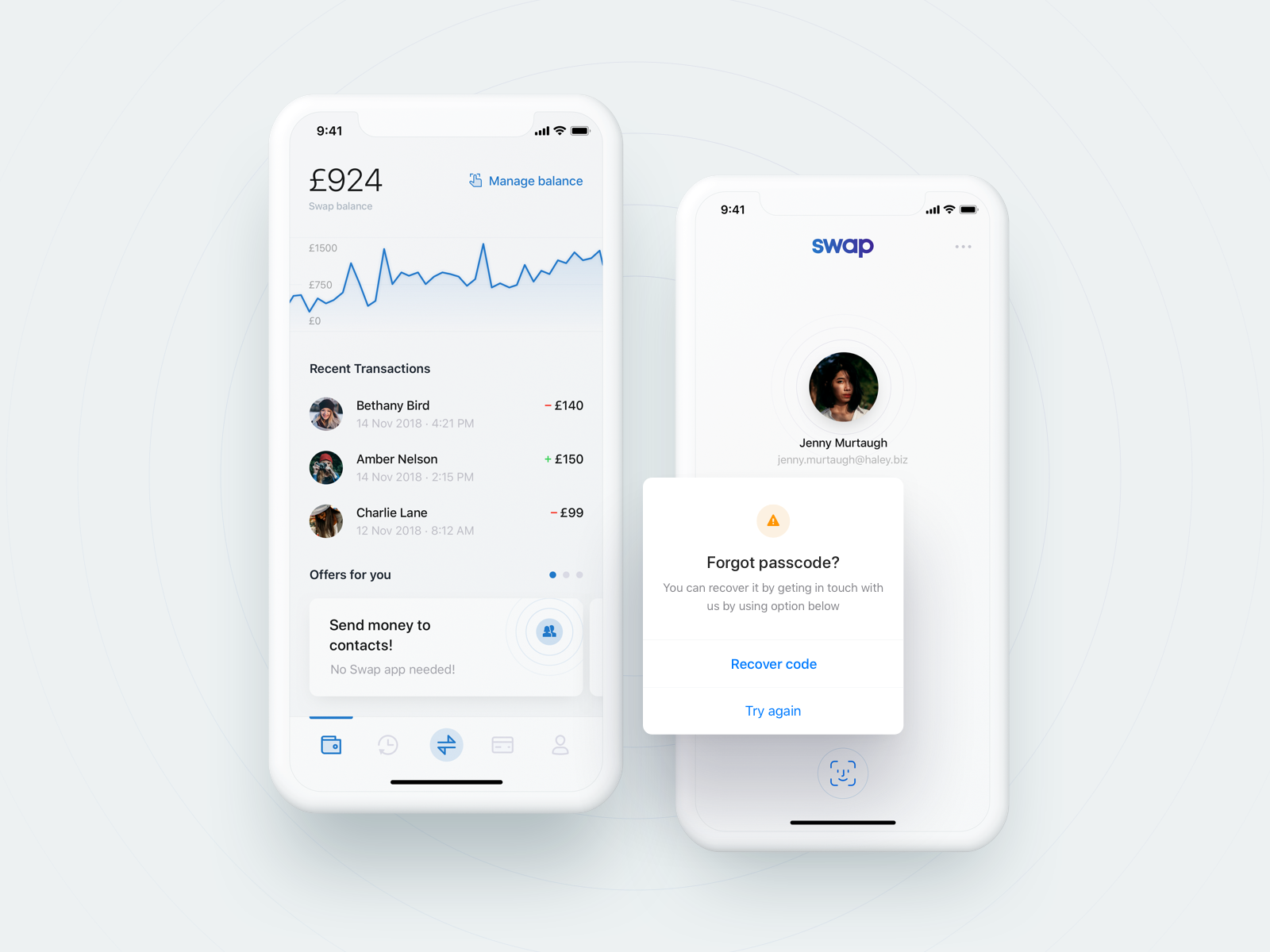 Swap manage your money 💸 Iphone login, Mobile app