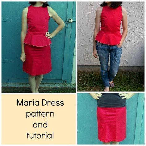 FREE SEWING PATTERN: THE MARIA SET DRESS | Dress set, Sewing ...