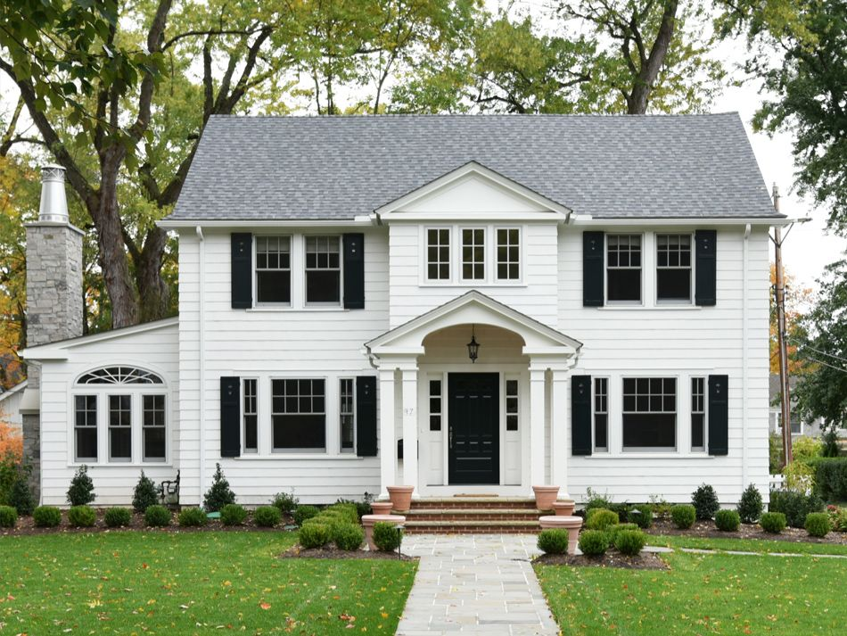 Clemens Pantuso Architecture Updated Center Hall Colonial Chagrin Falls Oh Colonial House Exteriors Colonial Exterior Colonial House