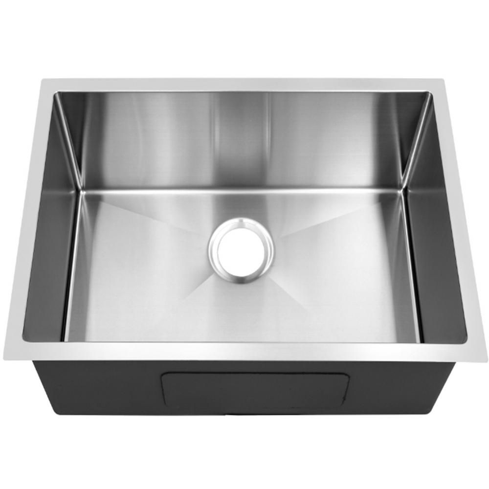 Single Bowl 20 In Stainless Steel Undermount Kitchen Sink