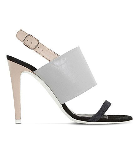 DUNE Memo Leather Heeled Sandals. #dune #shoes #sandals