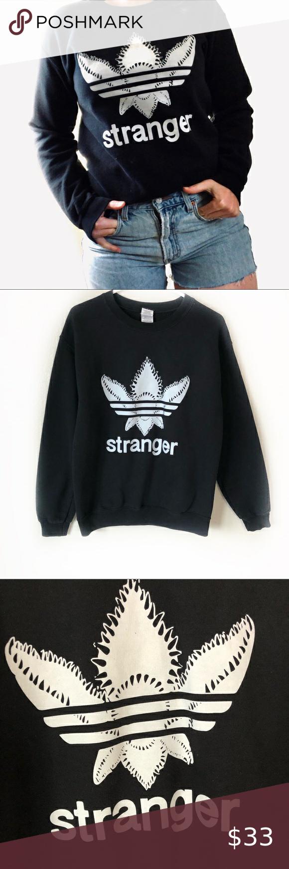 Stranger Things Adidas Sweatshirt Sz S Adidas Sweatshirt Sweatshirts Clothes Design [ 1740 x 580 Pixel ]