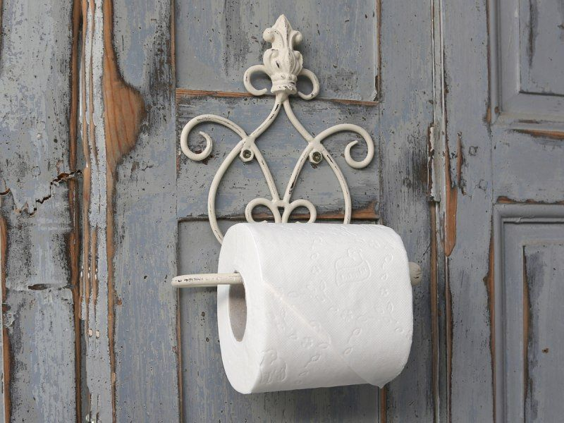 Roller Badezimmerschrank ~ Cream wall mounted toilet roll holder vintage style desing with