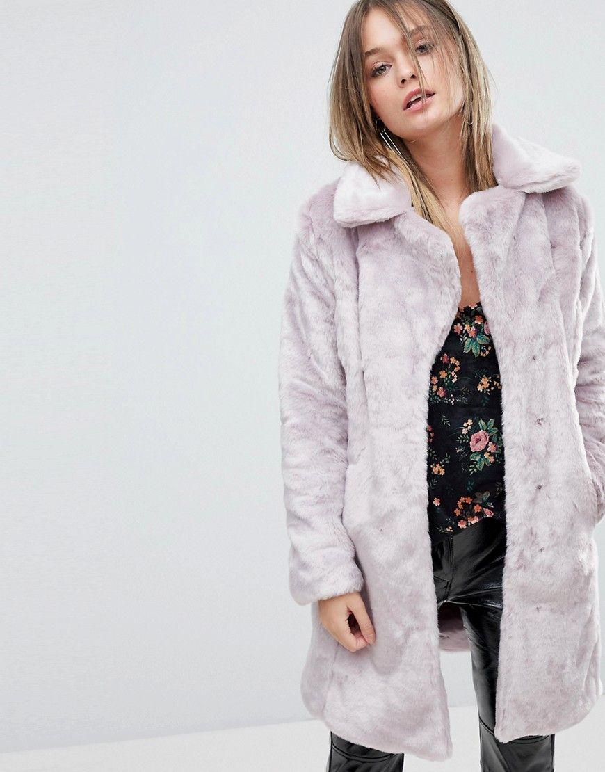 Miss Selfridge Crushed Faux Fur Coat   Products   Pinterest ... 6c51da829d