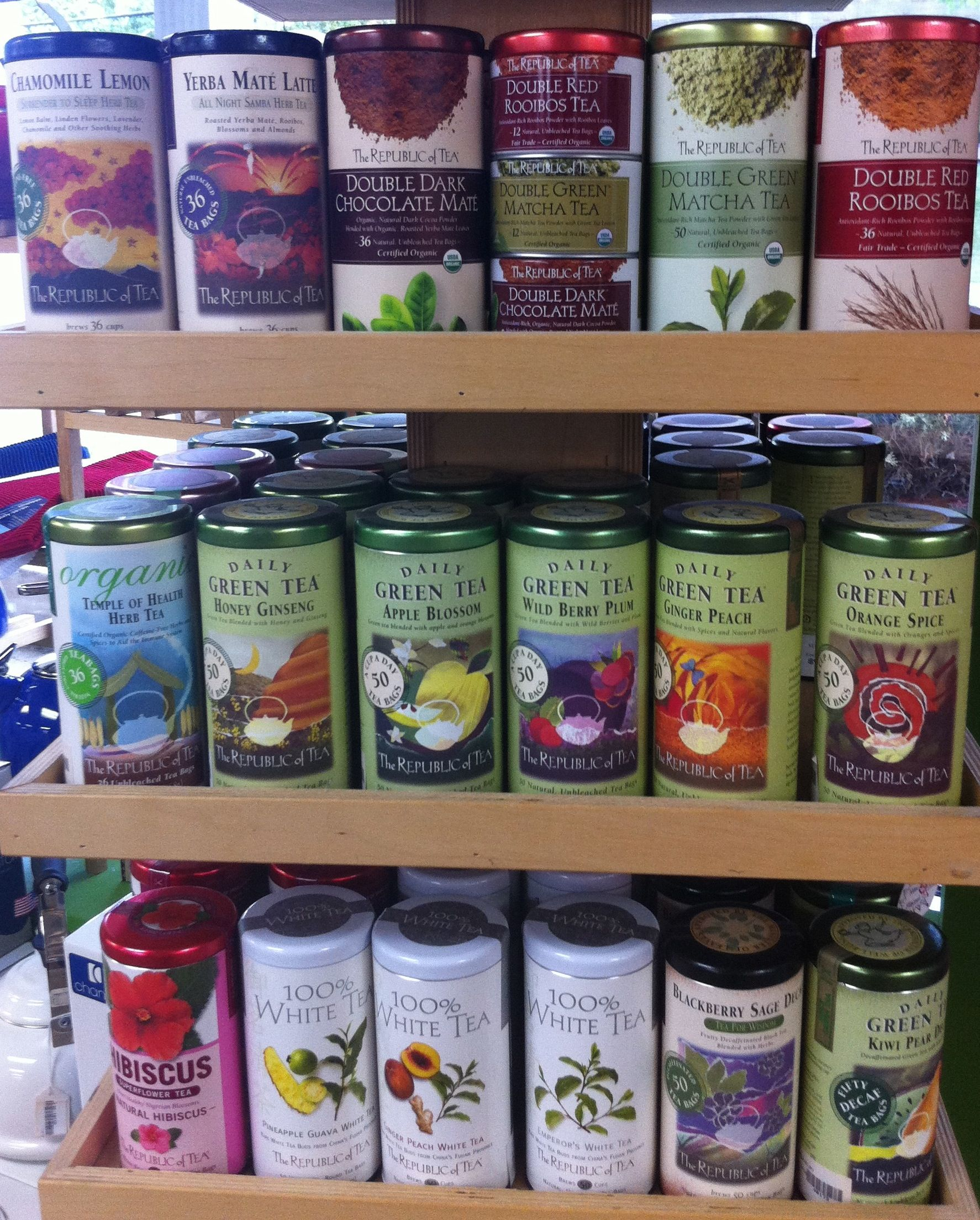 Republic Of Tea, Great Artwork On The Labels Of The