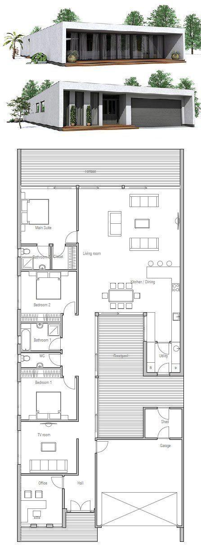 Minimalist house design floor plan from concepthome also gebaude rh pinterest