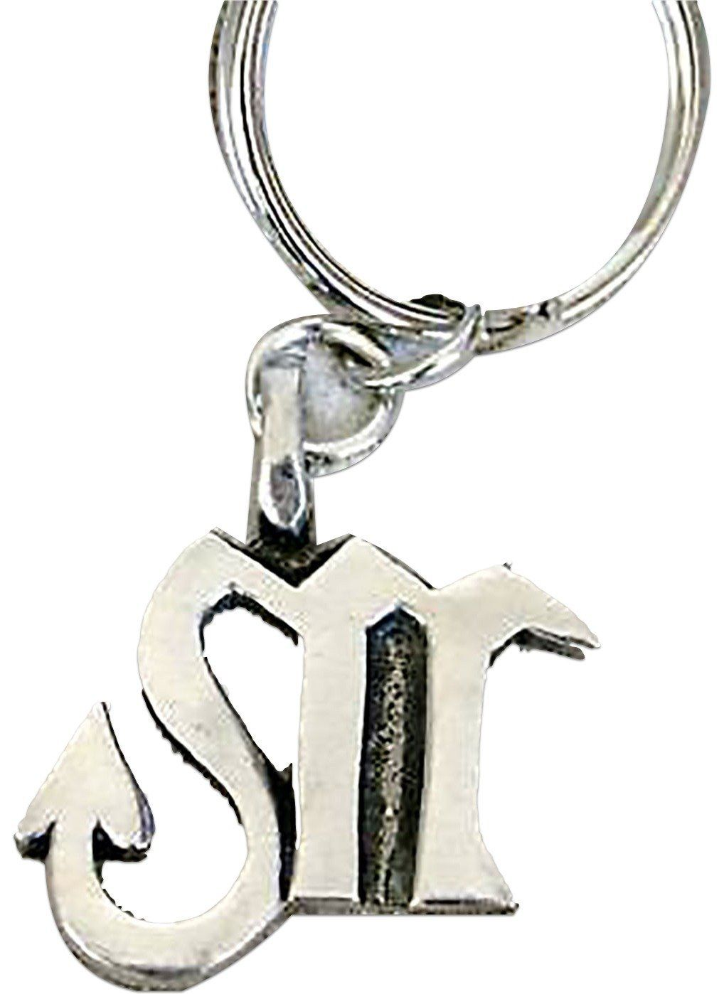 "Amazon.com: Unique & Custom 1 Single Medium Size ""Split"" Circle Keychain Ring Made of Chrome w/ Superstitious Scorpio M w/ Arrow Astrology Zodiac Sign Style Charm Made of Metal {Silver Color}: Automotive"