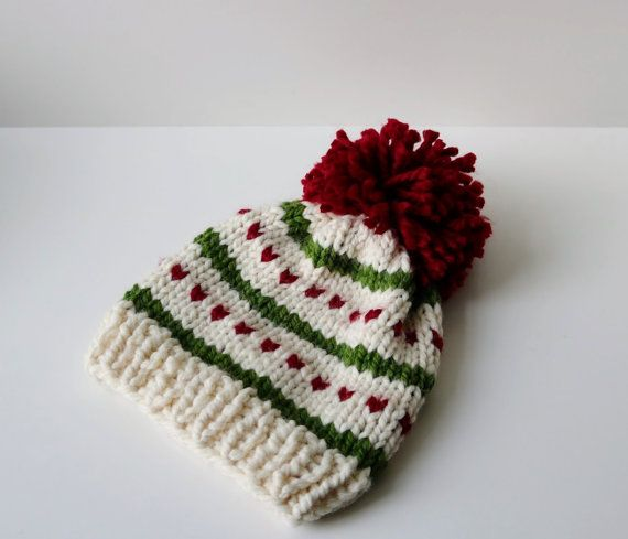 This fair isle knitted beanie with a pom pom is the perfect ...