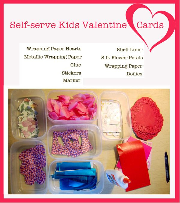 Kids Valentine Ideas How to Set up a Selfserve Card Station – Make Your Own Valentine Card Online