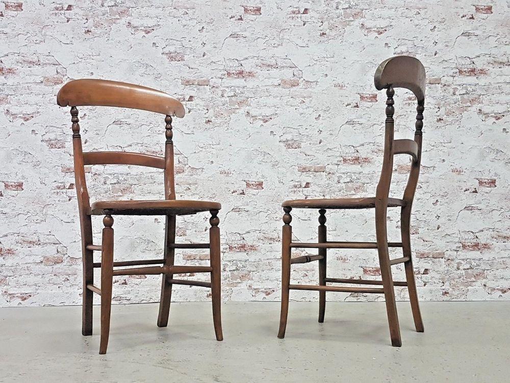 2er Set Biedermeier Stuhle Stuhl Wiener Geflecht Antik