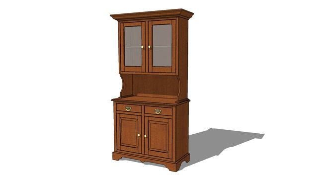 3d Warehouse View Model Cabinet Woodworking Plans Colonial Style Early American Furniture