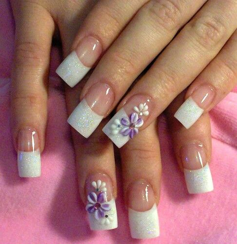 New Jersey Style French Tips Cute Acrylic Nail Designs Cute Nail Art Designs Remove Acrylic Nails