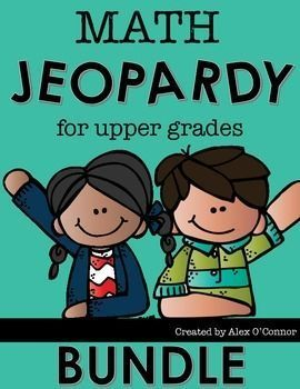 This bundle includes all six of my individual Math Jeopardy games related to the…