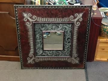 """Morning!! It's the weekend of mirrors :) This gorgeous Mirror is 36"""" x 36"""" and $160 at Black Pearl Emporium"""