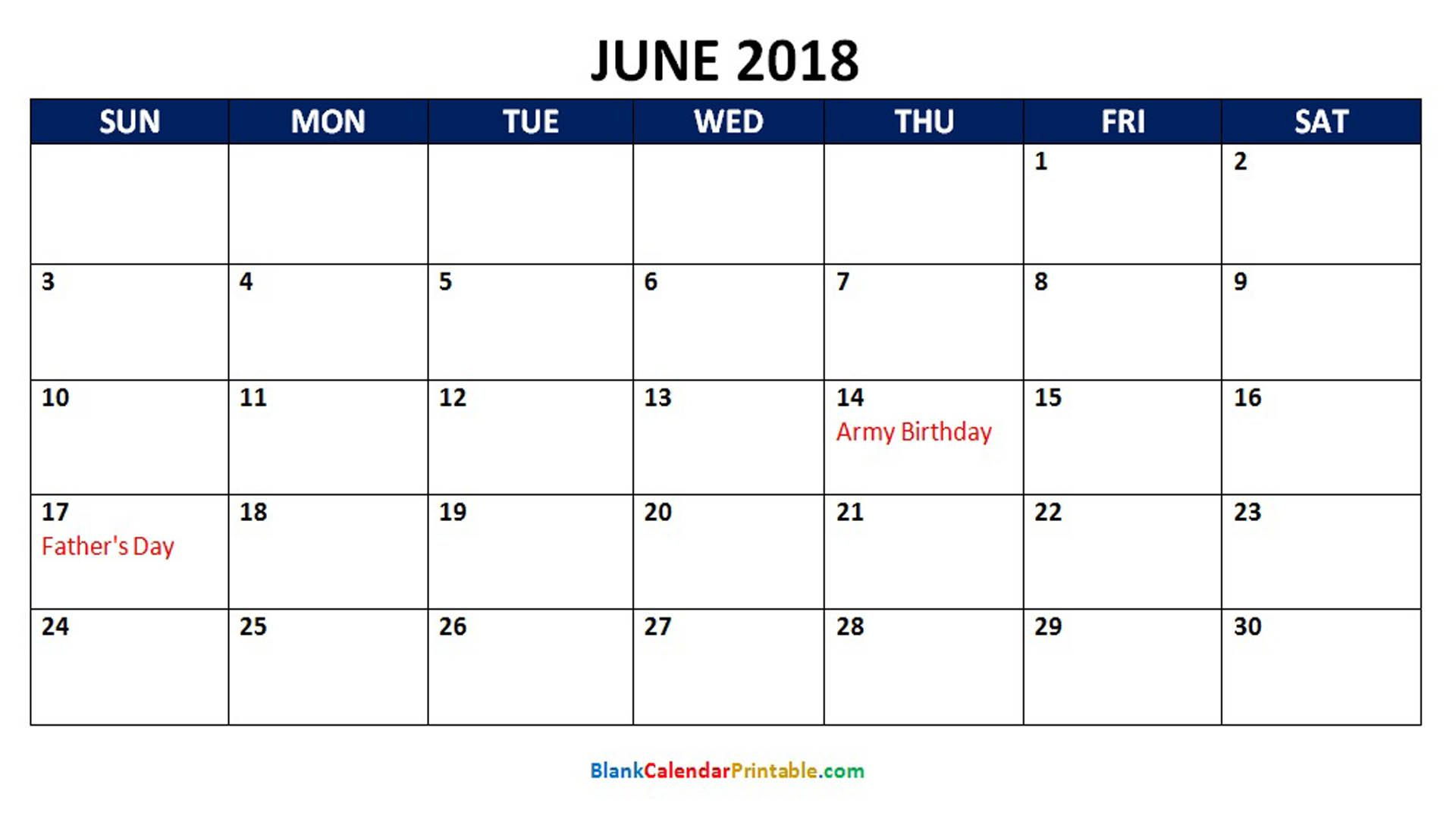 June 2018 Calendar With Holidays Calendar Word 2018 Calendar