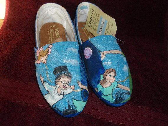 PERSONALIZED/CUSTOM PETER pan shoes by DJadeG on Etsy, $125.00