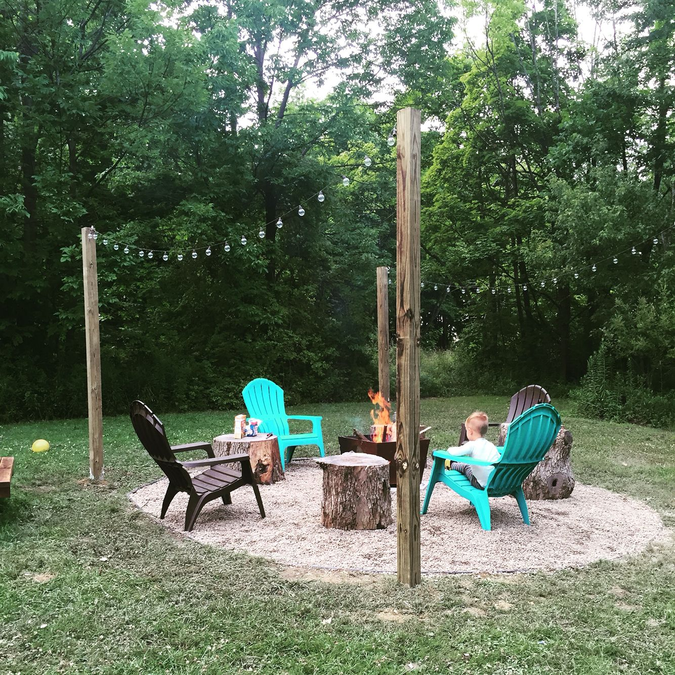 Backyard Fire Pit Landscaping Ideas: Our Fire DIY Fire Pit #firepit #backyard #countryliving