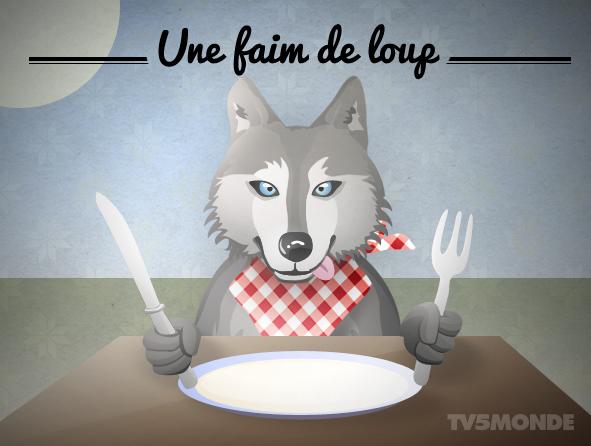 savez vous ce que signifie l expression avoir une faim de loup tre affam french. Black Bedroom Furniture Sets. Home Design Ideas