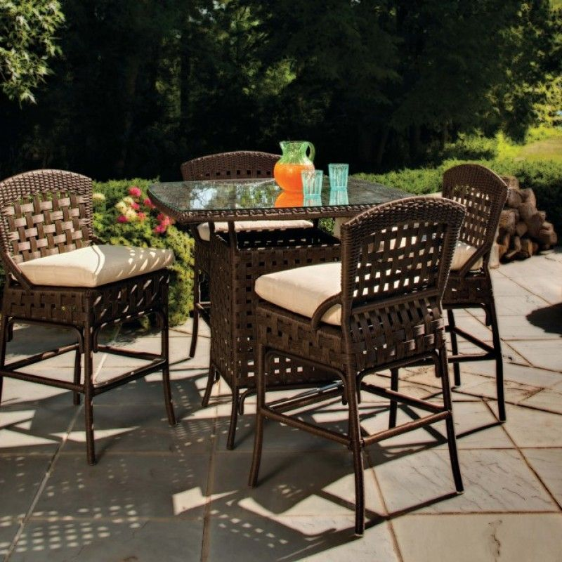 Haven Bar Collection Wicker The Great Escape Patio Bar Set