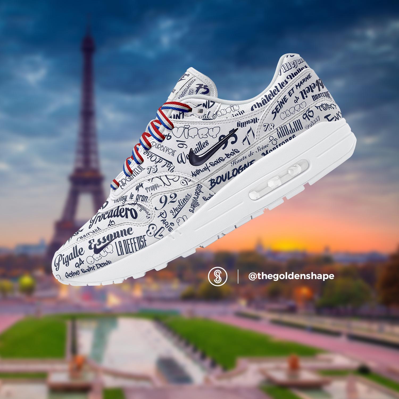 on sale 1437a e1d97 Nike Air Max 1 Grand Paris White