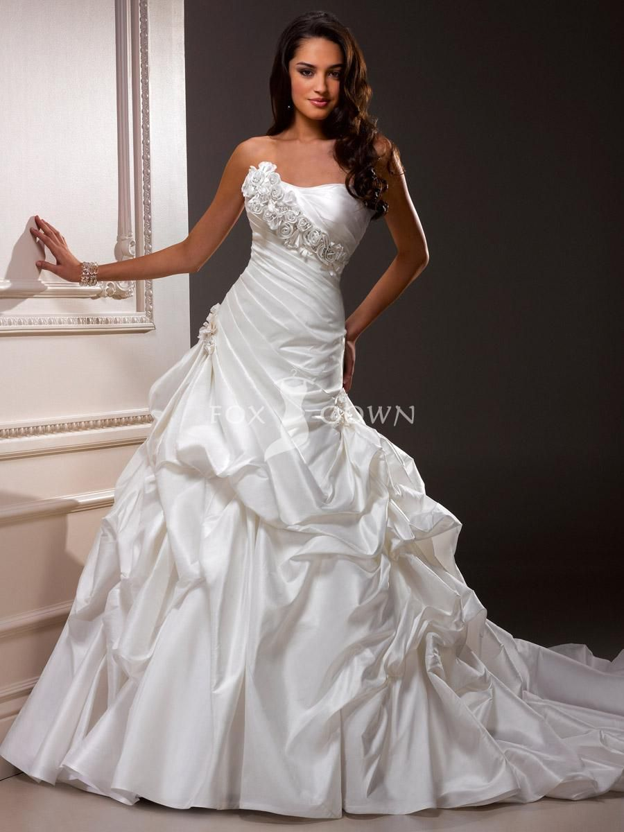 Bubble Hem Wedding Gowns