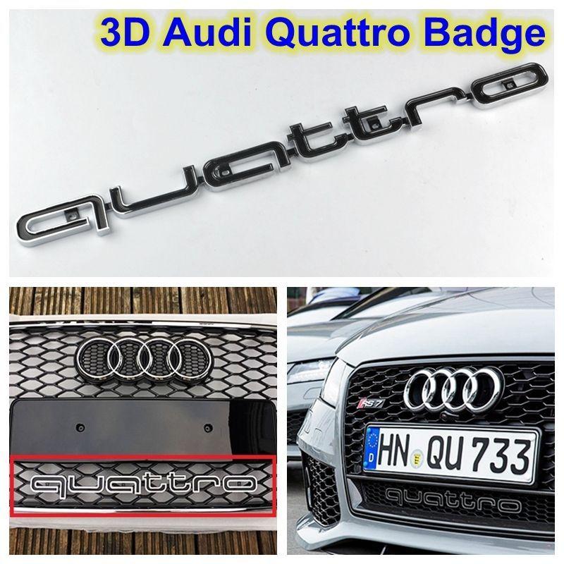 Audi Quattro Black Grill Badge Logo Emblem Rs5 Rsq3 A4 A6 A8 S3 S5 Q5 Q7 Tt R8 View More On The Link Http Www Zeppy Io Product G Audi Quattro Badge Audi