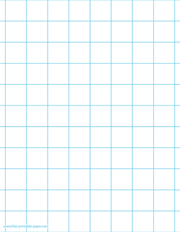 Download this one inch printable graph paper  Large graph