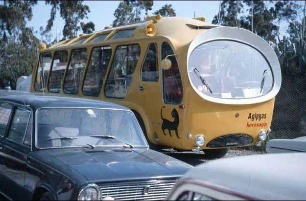 """1965 Fiat Boneschi - Mostra viaggiante automodelli """"AGIP e Club delle Quattroruotine"""", Italy (John Phillips photo) / Model cars travelling exhibition"""