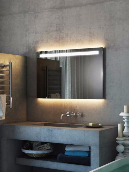 Argent Wide Led Light Bathroom Mirror Lighted Bathroom Mirror Big Bathrooms Led Mirror Bathroom