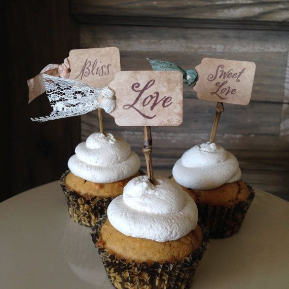 Cupcake Ideas For Wedding: The 25+ Best Wedding Cupcake Toppers Ideas On Pinterest