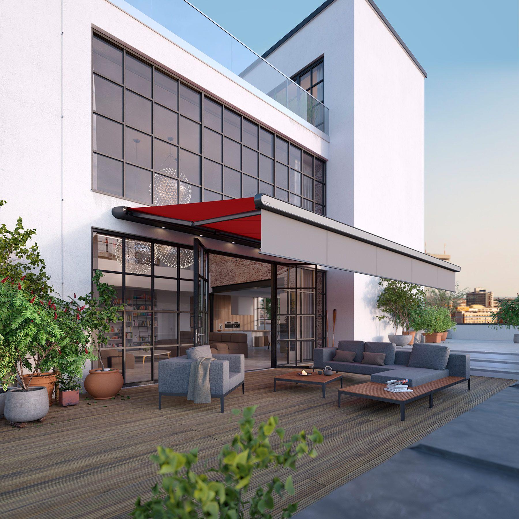Markise hochwertig keine wohnzimmer architektur terrasse terrace architecture