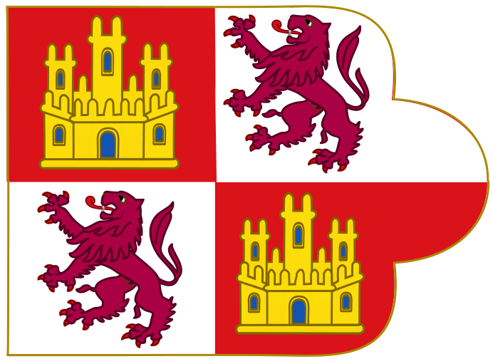 Royal Banner of the Crown of Castille (Early Style).svg