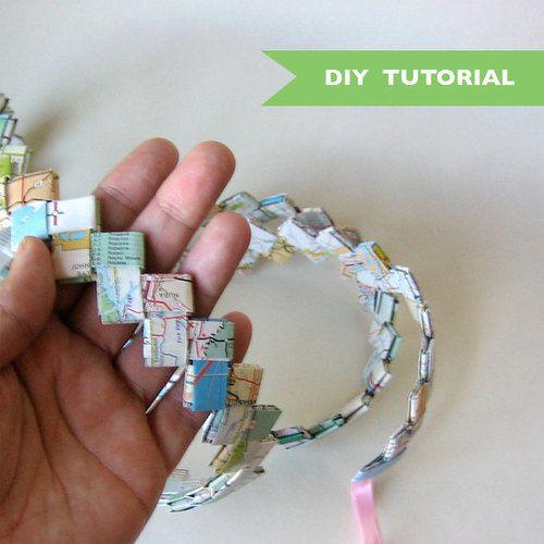 mariapalito:Paper Woven Garland – How to Make – DIY Tutorial -…