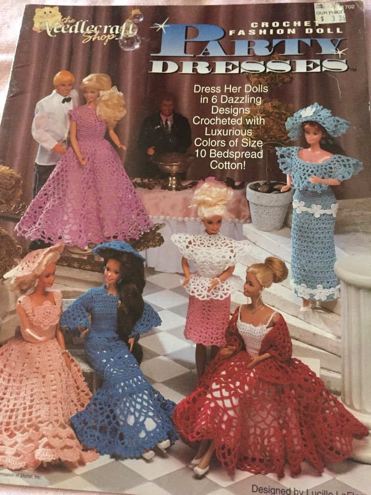 Partytime Dresses Crochet Pattern Booklet For 11 1/2 Fashion Dolls ...