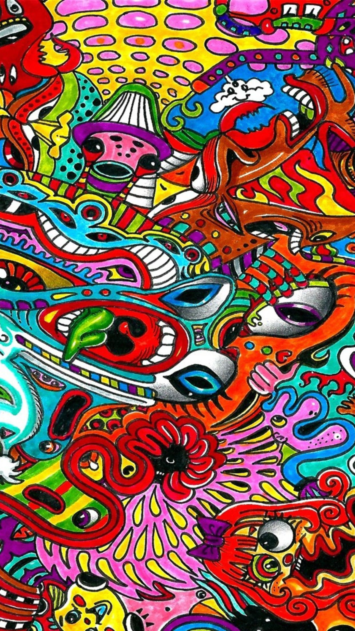 Trippy iphone wallpaper by MAZme Z on iPhone Wallpapers
