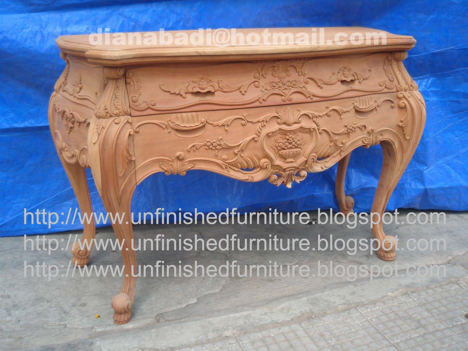 Unfinished Mahogany Furniture, Bombay Rose Carved 2 Drawer Dresser, Made Of  Fine Solid Kiln Dry Mahogany Wood. Present In Unfinished Furniture  Condition ...