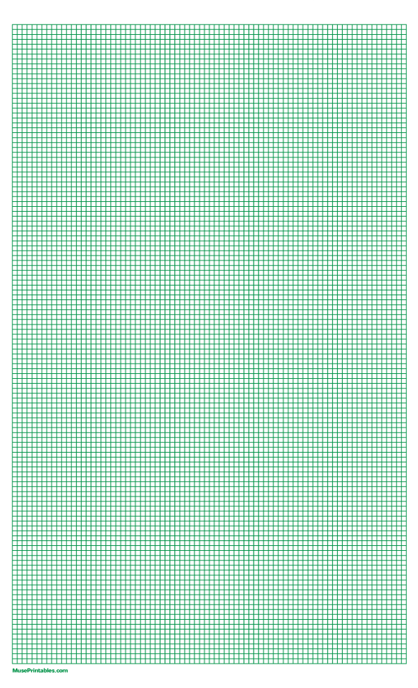 Printable 1 10 Inch Green Graph Paper For Legal Paper Free Download At Https Museprintables Com Download Paper 1 10 Inch Green Gr Graph Paper Paper Graphing