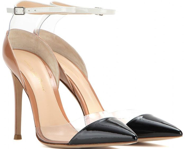 buy cheap countdown package Gianvito Rossi Cap-Toe Patent Leather Pumps free shipping Inexpensive 8Cgg2bvbx