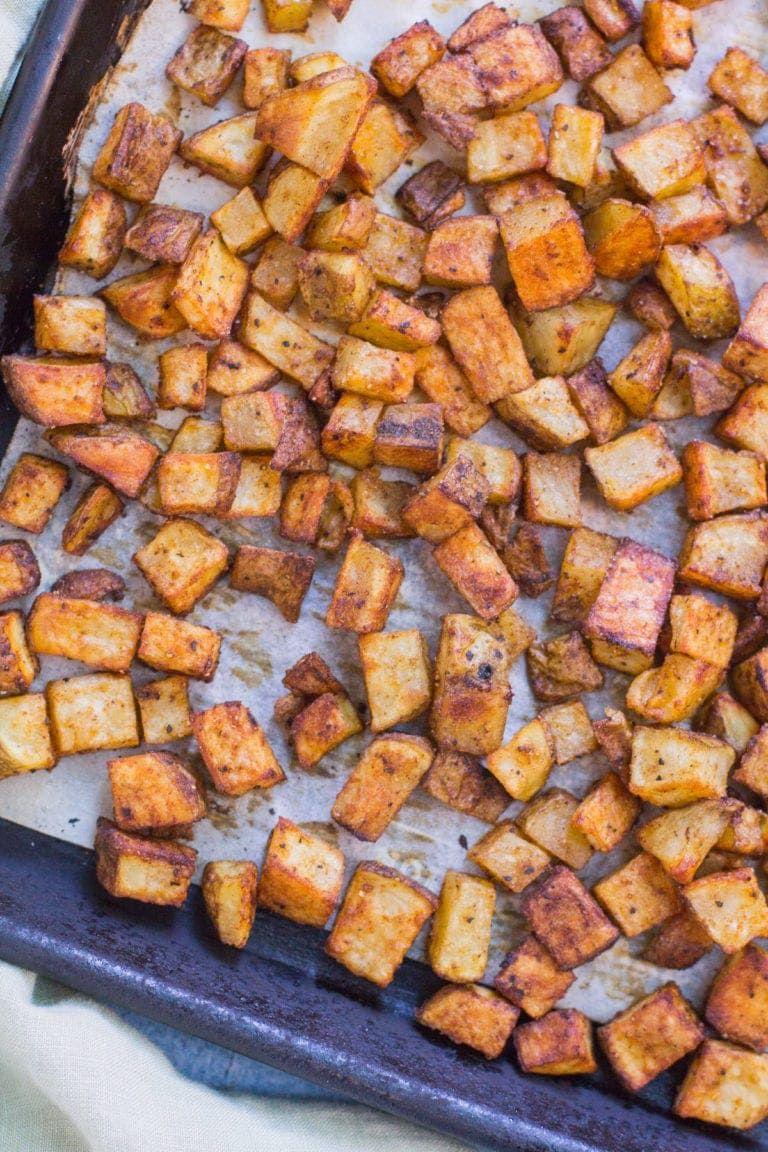 Healthy Mexican Potatoes #tacosidedishes