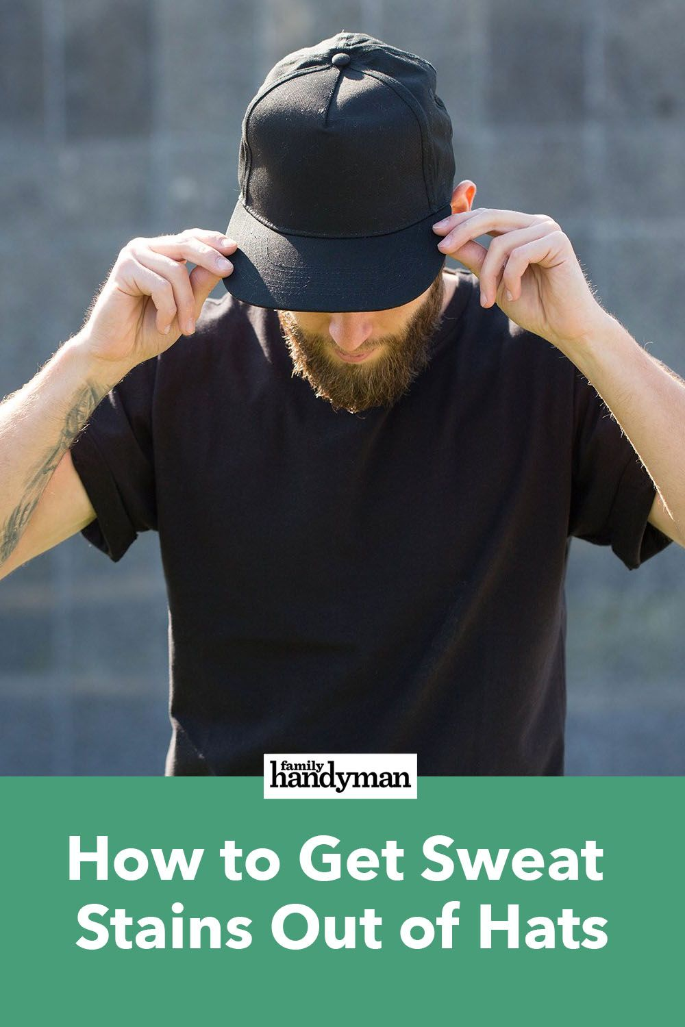 How to get sweat stains out of hats with images sweat