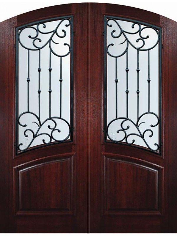 36 X 96 Double Arch Top Catalina Mahogany Door Mahogany Entry Doors Mahogany Doors Double Doors Exterior