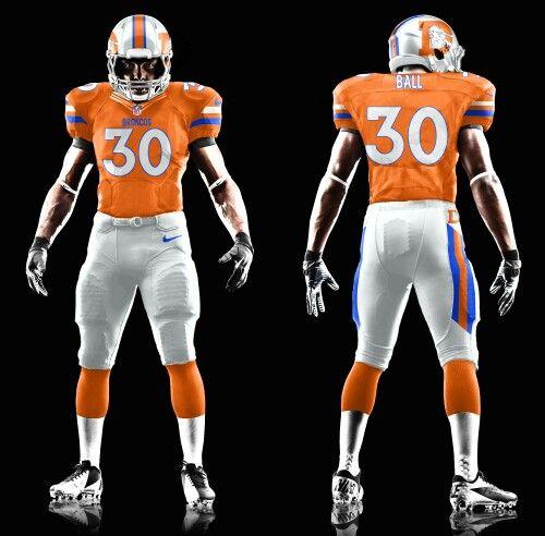 the latest 316ea bf2f3 Broncos 90s Throwback Uniform Concept | Football/Basketball ...