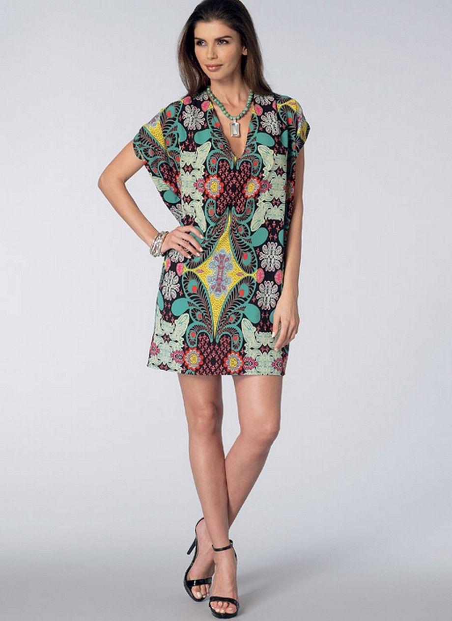 Vogue 1496 V-Neck Cocoon Dresses | cocoon dress | Pinterest | Sewing ...