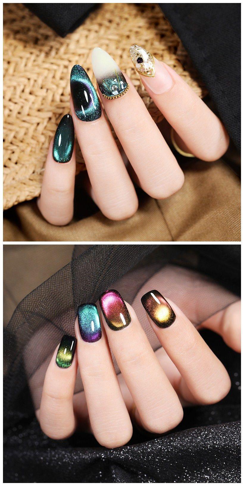 9d Magnetic Gel Nail Polish Cat Eye Gel Polish Nails Gel Nails